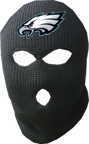 Display your fierce loyalty and keep warm with the double-stitched black ski mask. Complete with large Eagles logo, no one will question your allegiance!